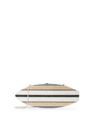 Stripe Surfboard Crystal Clutch Judith Leiber