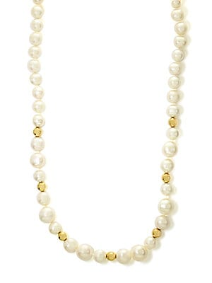 14Kt. Yellow Gold Pearl Necklace