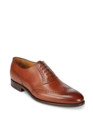 Goodyear Welted Leather Oxfords Carlos Santos for Saks Fifth Avenue
