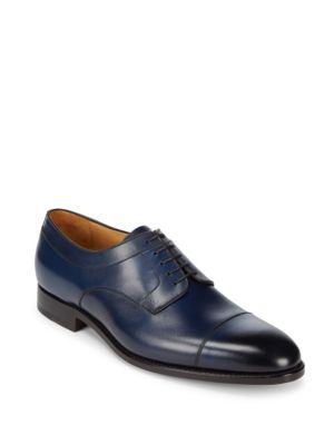 Goodyear Welted Leather Derbys Carlos Santos for Saks Fifth Avenue