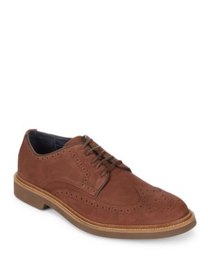 Monroe Wingtip Leather Derby Shoes Cole Haan