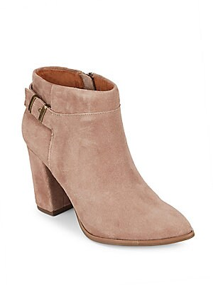 Company Side-Zip Leather Booties