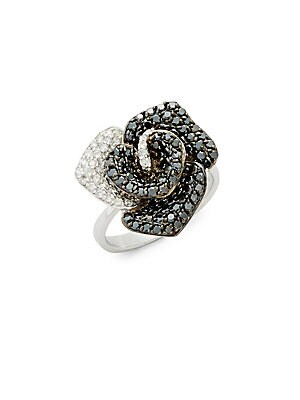 Click here for Diamond & 14K White Gold Solid Fill Statement Ring prices