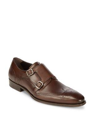 Leather Monk Strap Dress Shoes Mezlan