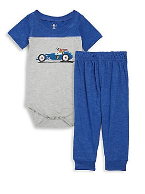 Baby's Two-Piece Graphic Bodysuit and Jogger Pants Set