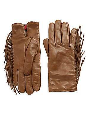 Frill Leather Gloves