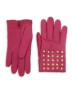 Pyramid Leather Gloves