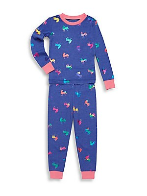Little Girl's Two-Piece Magical Horse Sweater & Pants Set