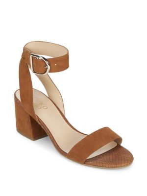 Marcy Leather Ankle Strap Sandals Franco Sarto