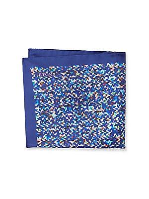 Printed Raw-Silk Pocket Square