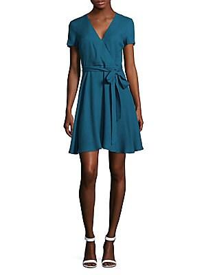 Adrianna Mock Wrap Dress