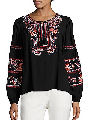 Persimmon Embroidered Blouse