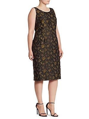 Elegante Leaf Patterned Dress