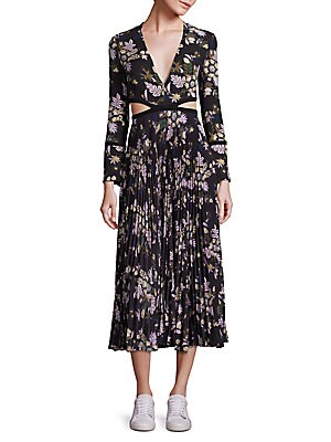 Josefa Pleated Cutout Dress