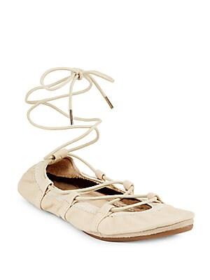 Leather Dress Ballet Flats