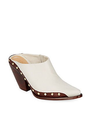 Shareef Block Heel Leather Mules