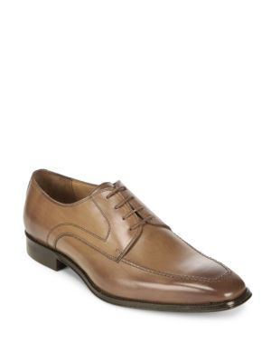 Solid Leather Derby Shoes Massimo Matteo
