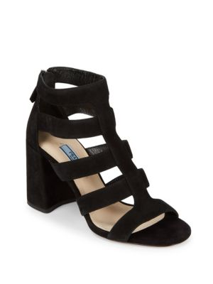 Caged Leather Sandals Prada