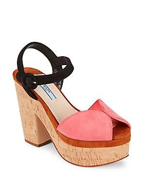 Peep Toe Slingback Leather Sandals