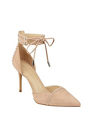 Cora Studded Suede Pumps