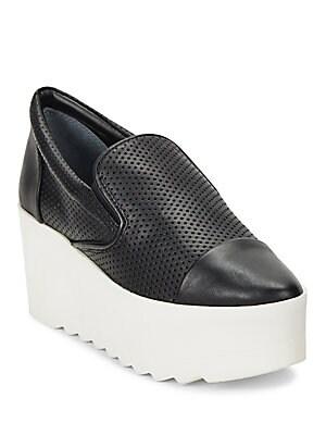 Tanya Perforated Platform Slip On Sneakers