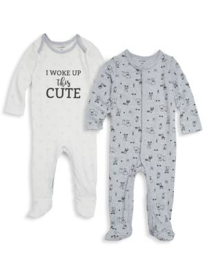 Baby's Two-Piece Cotton Footies PL♥BABY