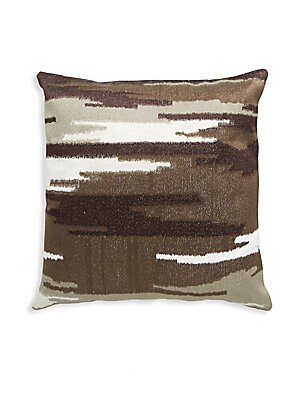 Abstract-Print Cotton Throw Pillow