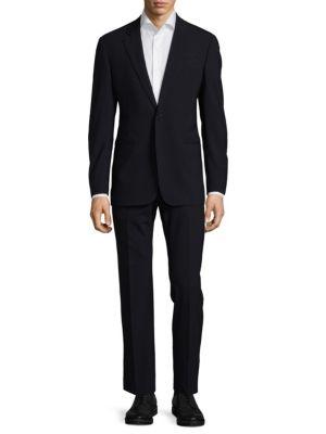 Buttoned Cuffs Suit Armani Collezioni