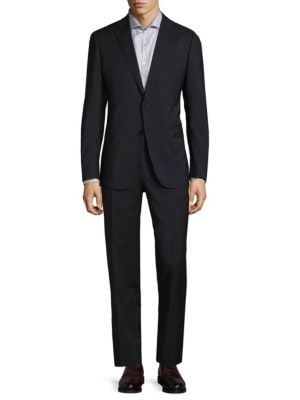 Modern Fit Solid Wool Suit Armani Collezioni