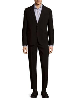 Buttoned Wool Suit Armani Collezioni