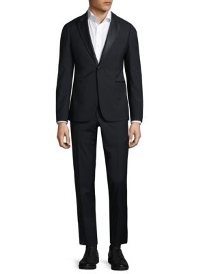 Modern Fit Peak Lapel Wool Tuxedo Armani Collezioni
