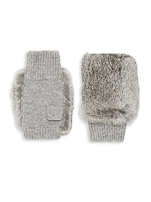 Plush Fur Fingerless Gloves