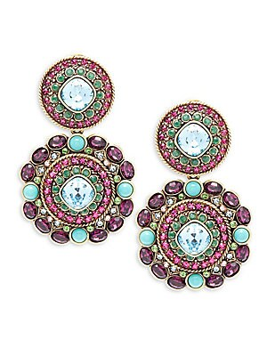 Turquoise Crystal Drop Earring