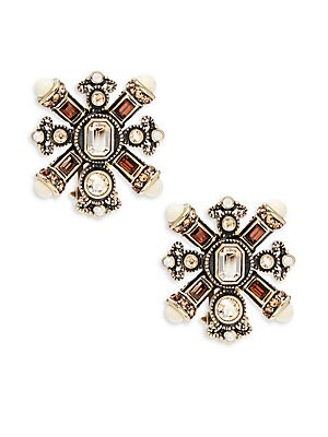 Click here for Crystal Station Smoke Stud Earring prices