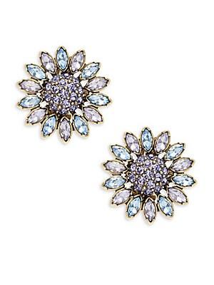Crystal Flora Stud Earring