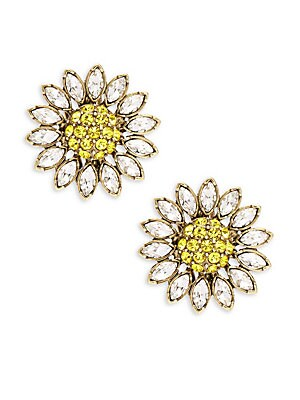 Crystal Floral Stud Earring