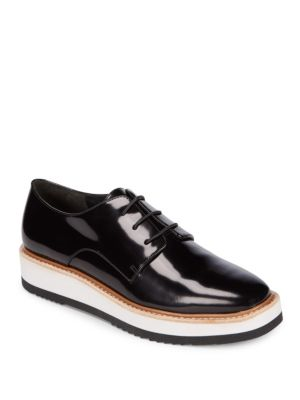 Reed Patent Leather Platform Shoes Vince