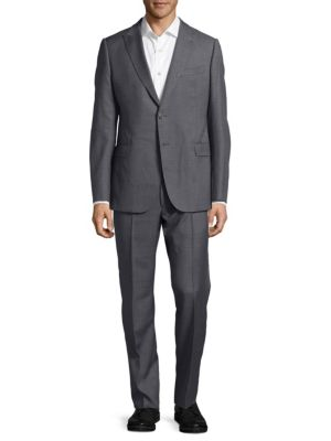 Textured Wool Suit Armani Collezioni