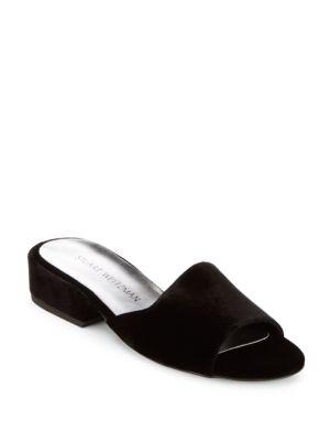 Sliderule Suede Slide Sandals Stuart Weitzman