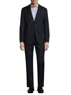Modern-fit Wool Suit Armani Collezioni