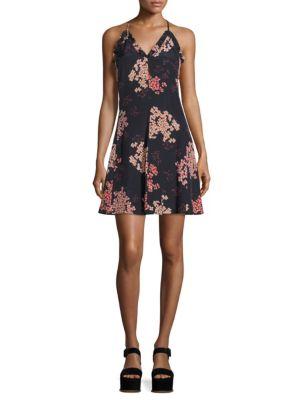 Phlox Printed Silk Slip Dress