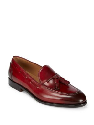 Mario Leather Tassel Loafers Salvatore Ferragamo