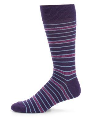 Striped Blended Crew Socks Saks Fifth Avenue
