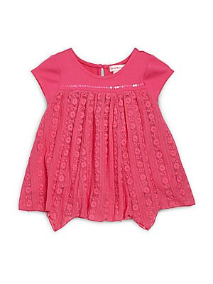 Little Girl's Floral Lace Top