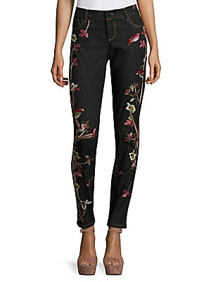 Jane Embroidered Skinny Jeans
