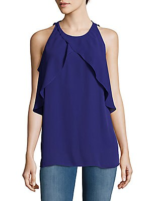 Crossover Ruffle Top