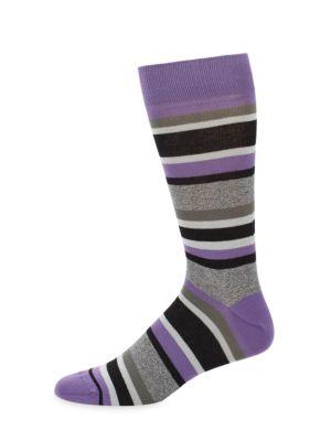 Jasper Tonal Striped Crew Socks Saks Fifth Avenue