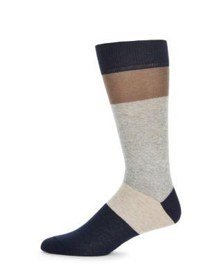 Jaspe Thick Stripe Socks Saks Fifth Avenue