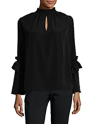 Ruched Highneck Top