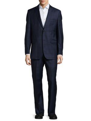 Plaid Wool Suit Saks Fifth Avenue